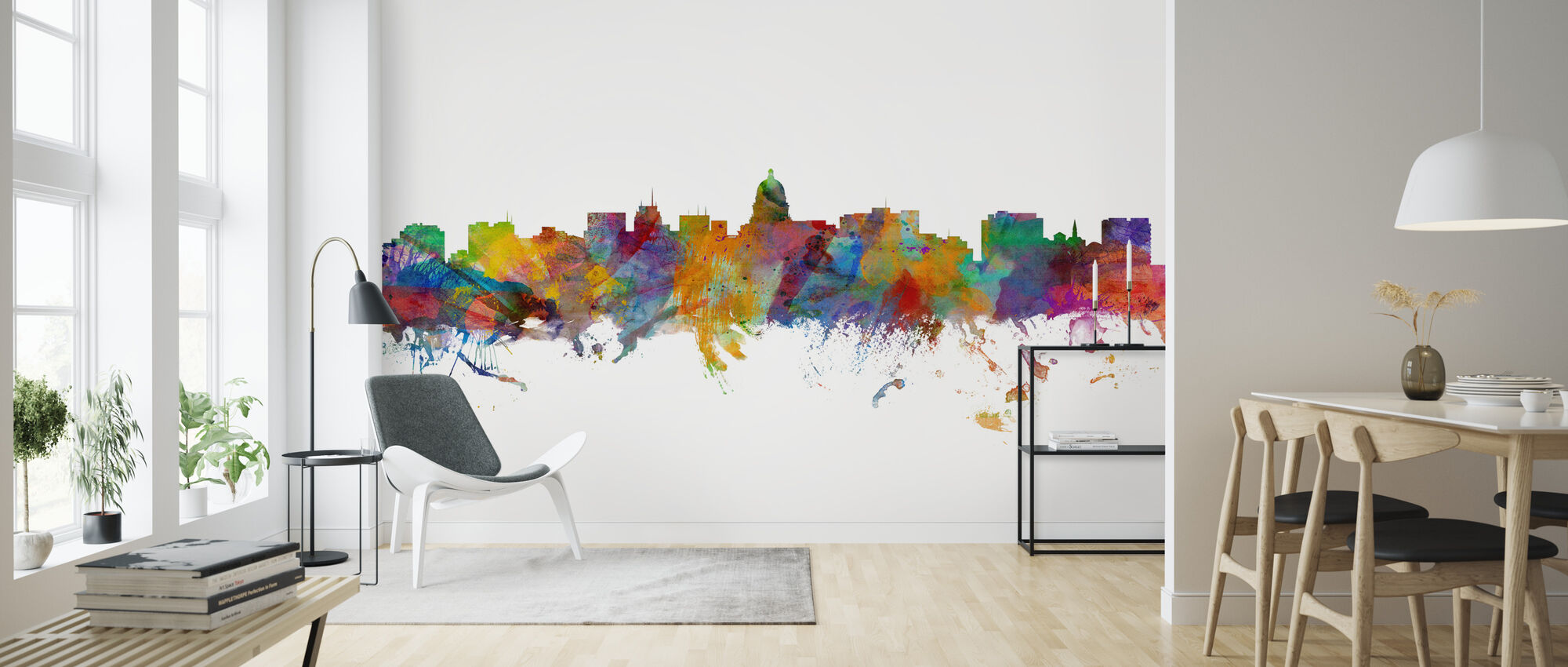 Madison Wisconsin Skyline - Wallpaper - Living Room