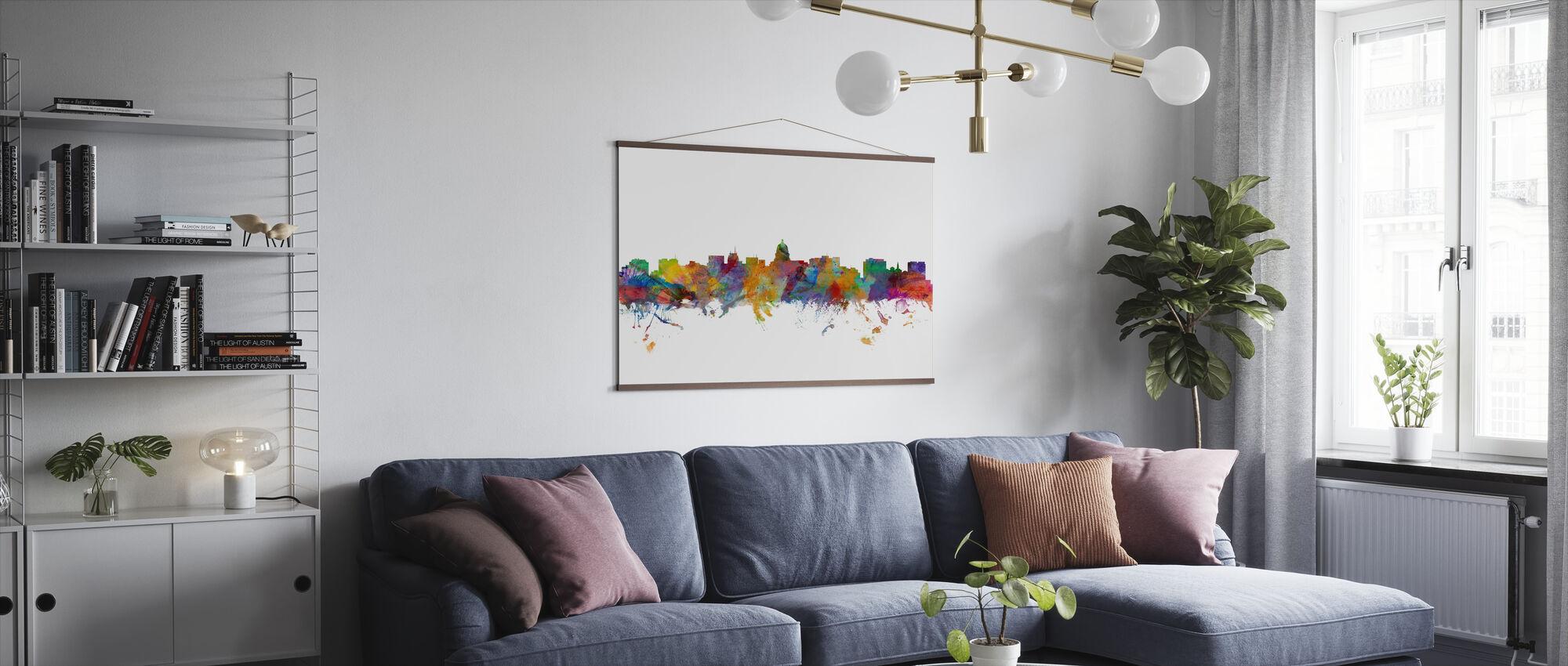 Madison Wisconsin Skyline - Poster - Living Room