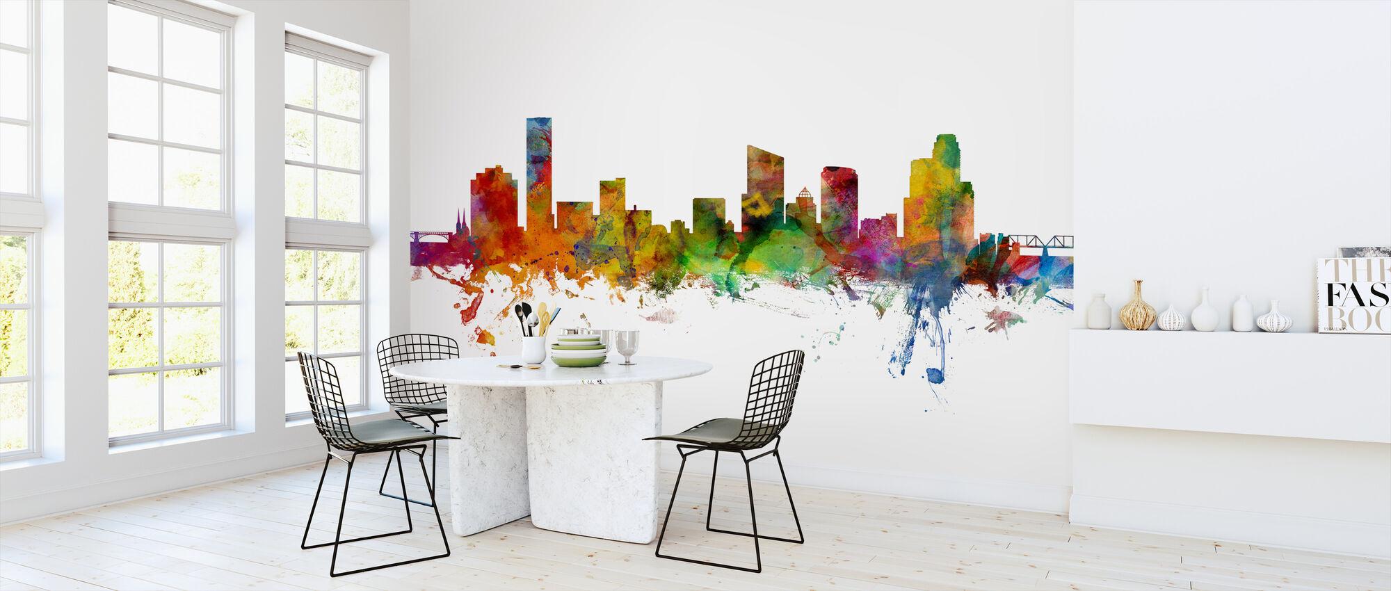 Grand Rapids Michigan Skyline - Wallpaper - Kitchen