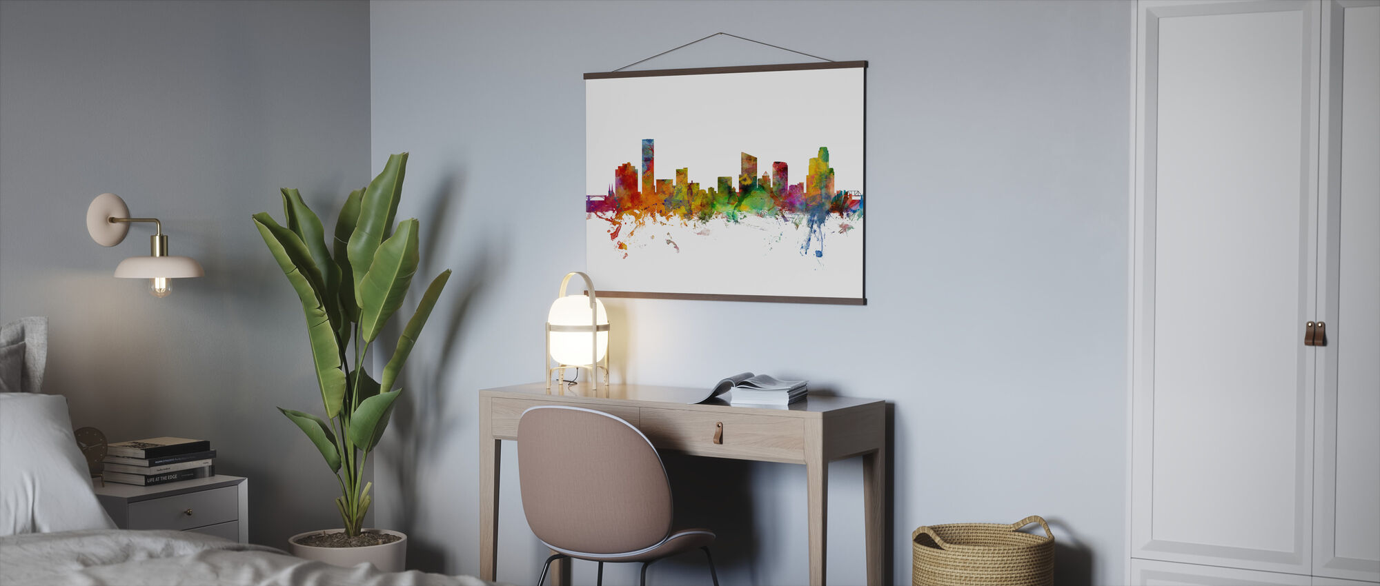 Grand Rapids Michigan Skyline - Poster - Office