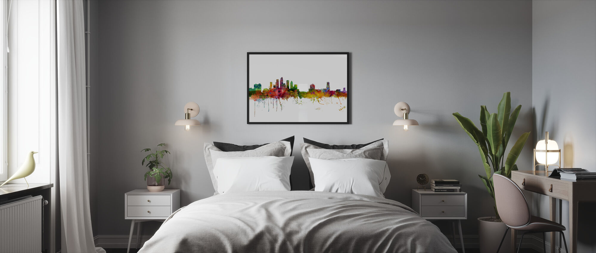 Tampa Florida Skyline - Framed print - Bedroom