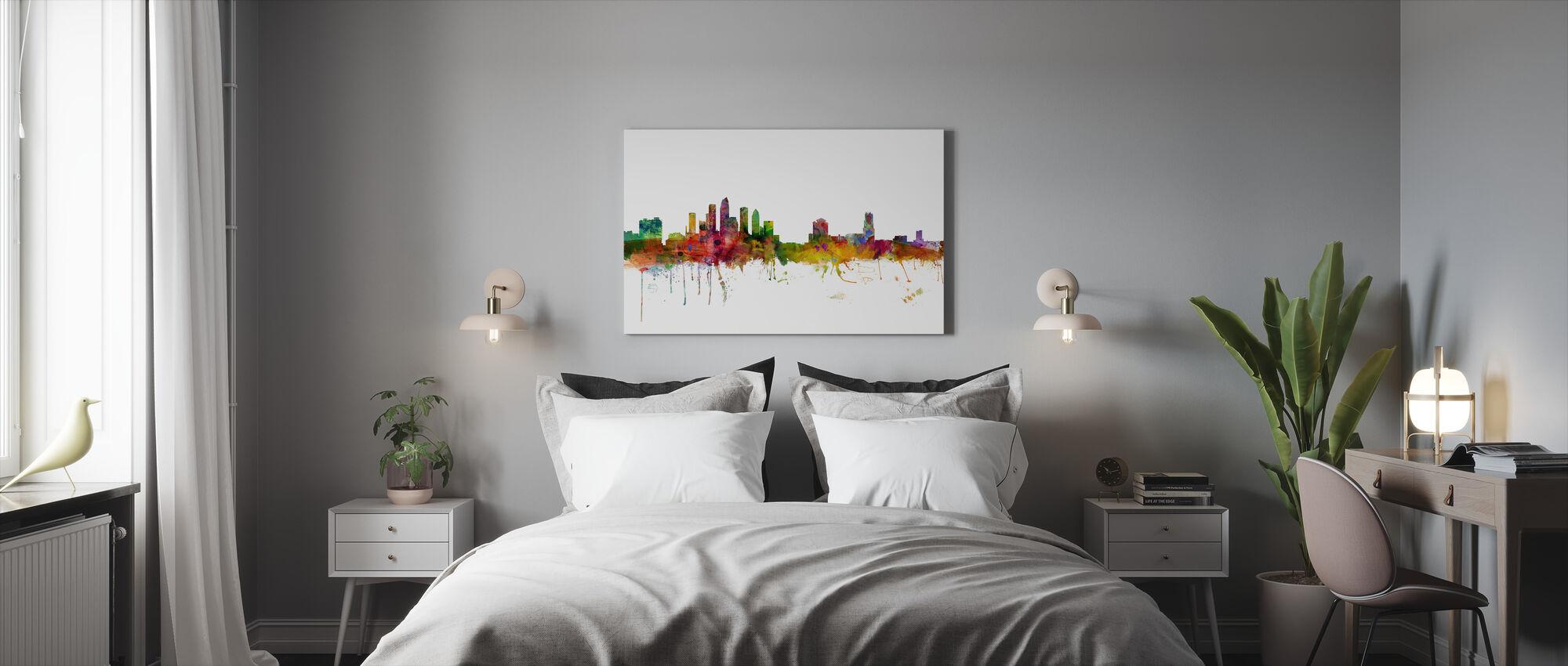 Tampa Florida Skyline - Canvas print - Bedroom
