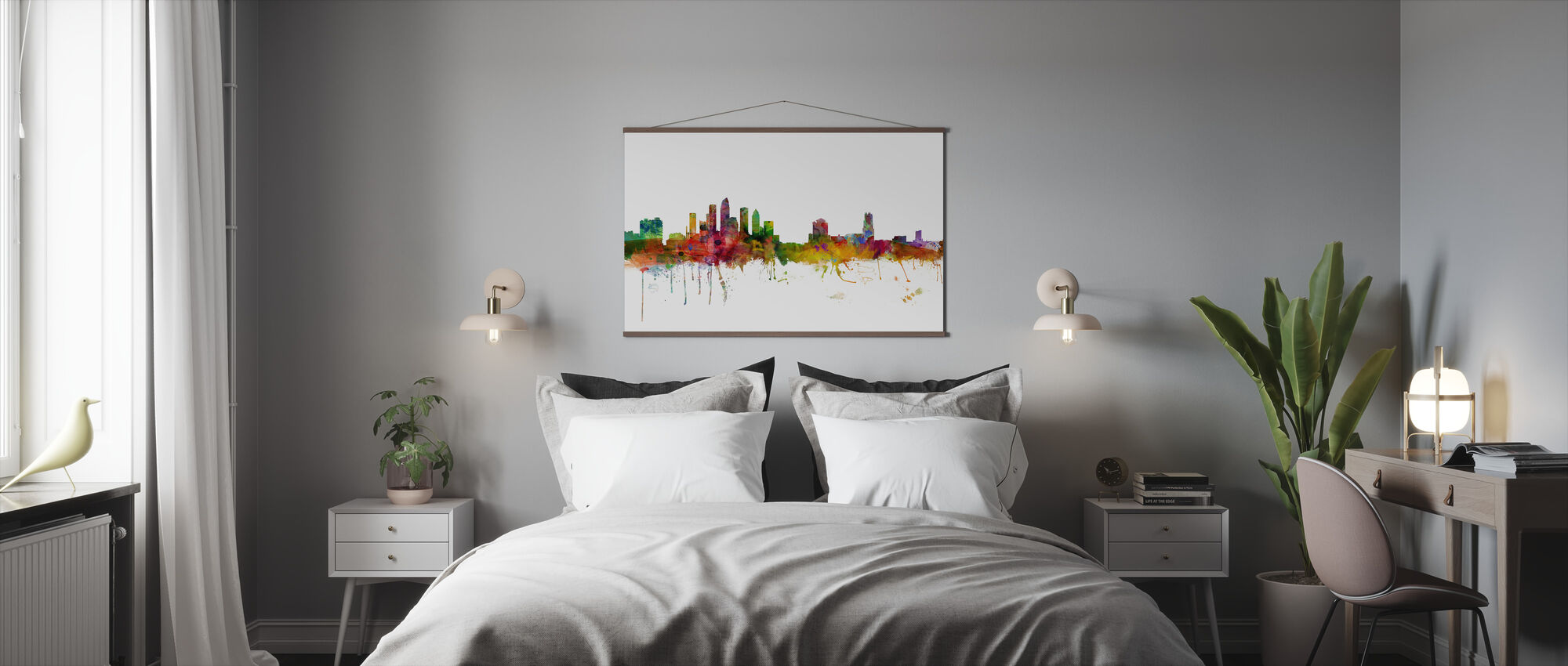 Tampa Florida Skyline - Plakat - Sypialnia
