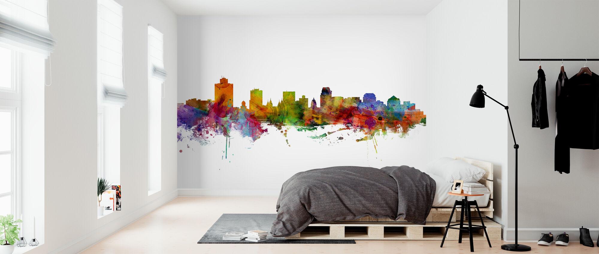 Salt Lake City Skyline - Wallpaper - Bedroom