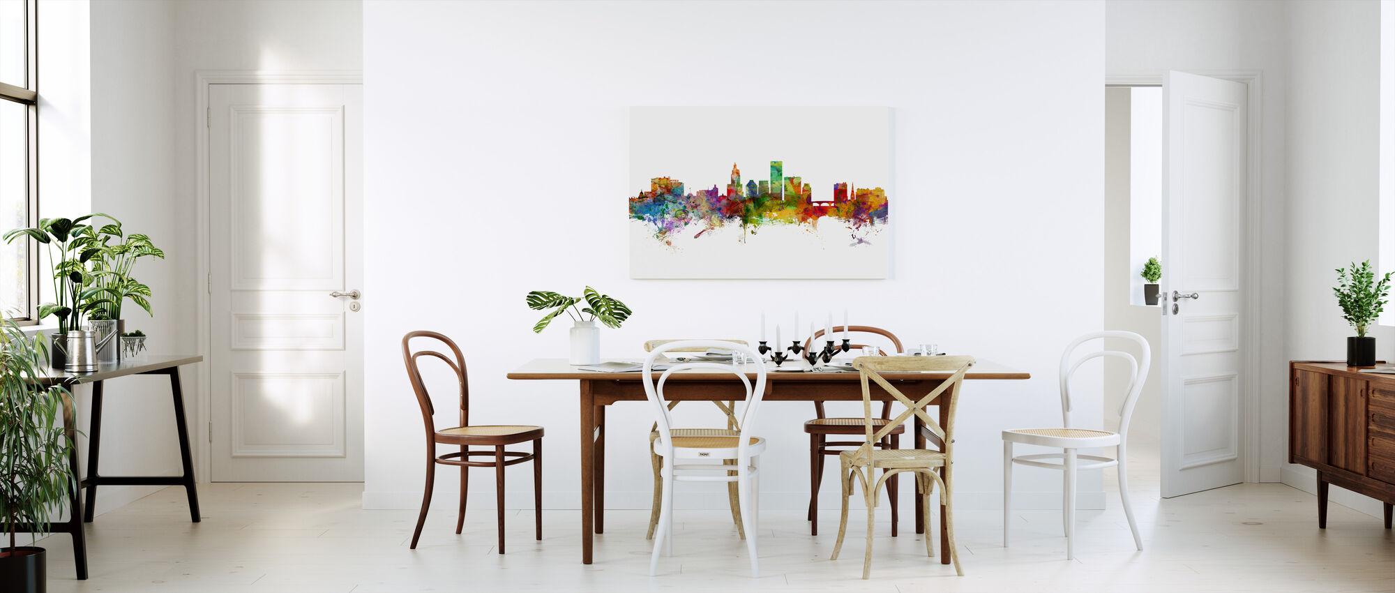 Providence Rhode Island Skyline - Canvas print - Kitchen