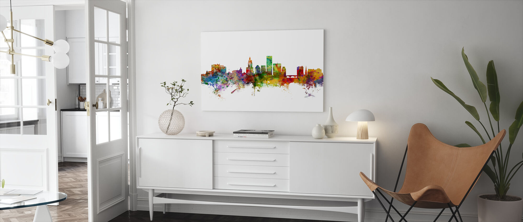 Providence Rhode Island Skyline - Canvas print - Living Room