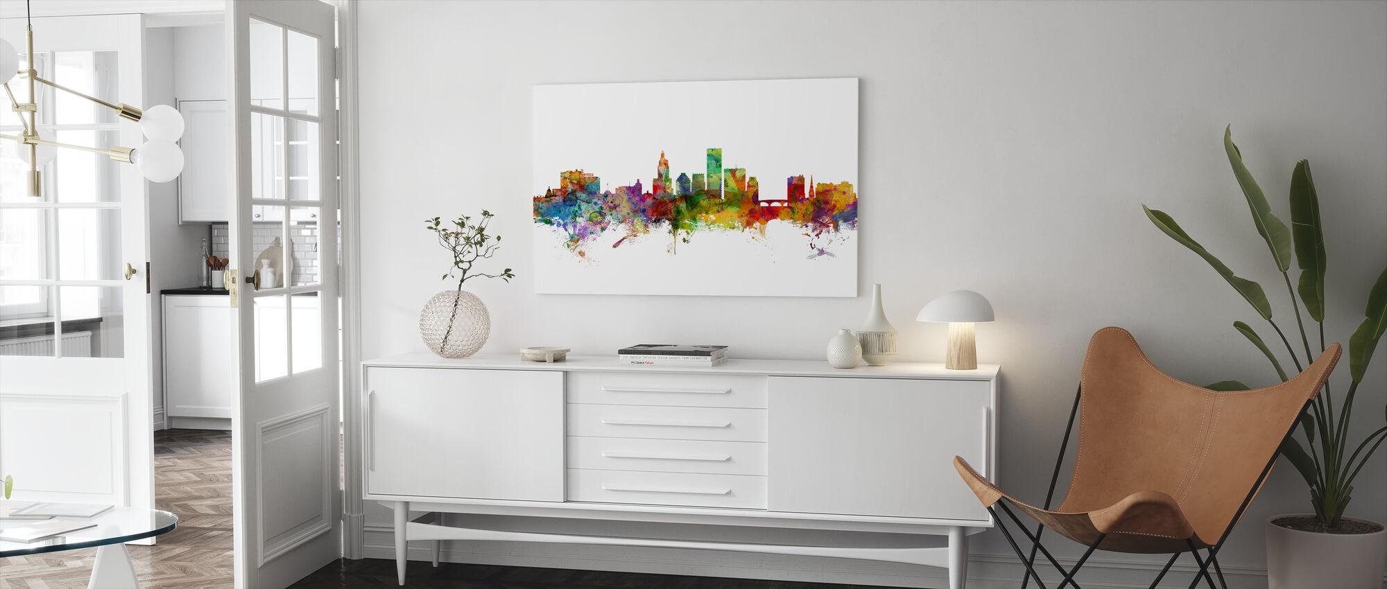 Providence Rhode Island Skyline - Lerretsbilde - Stue