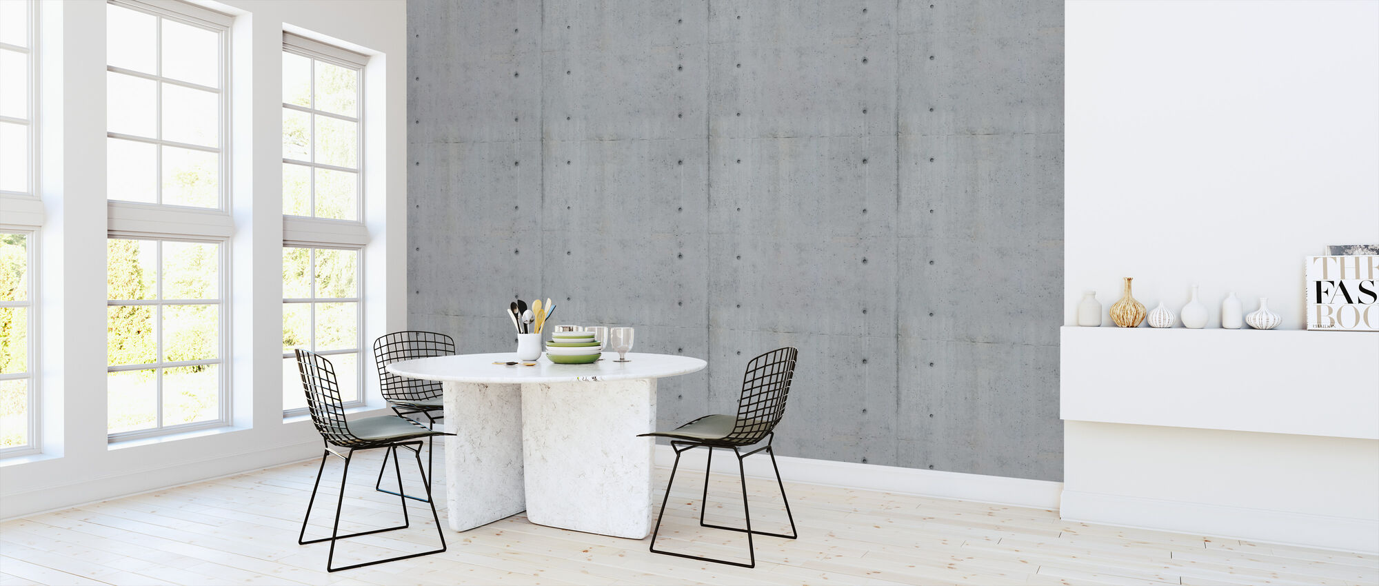 Concrete Mold Pattern - Wallpaper - Kitchen