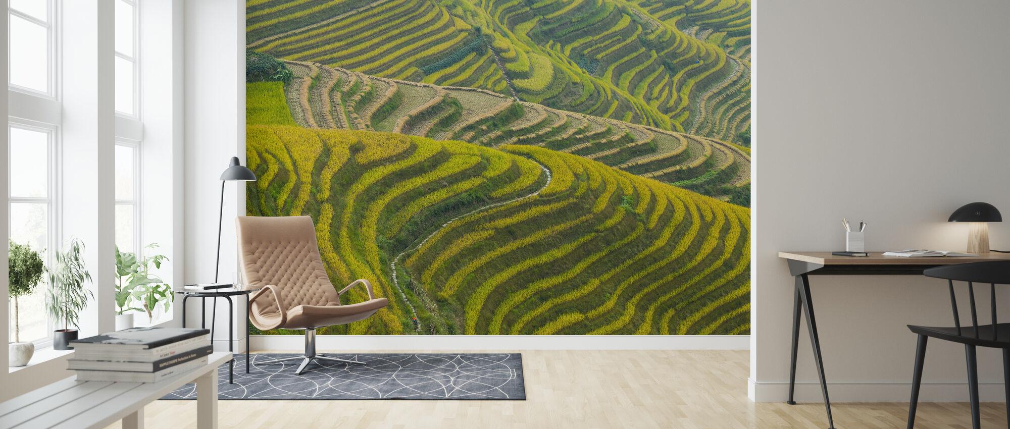 Schoonheid in de natuur, Sichuan, China - Behang - Woonkamer