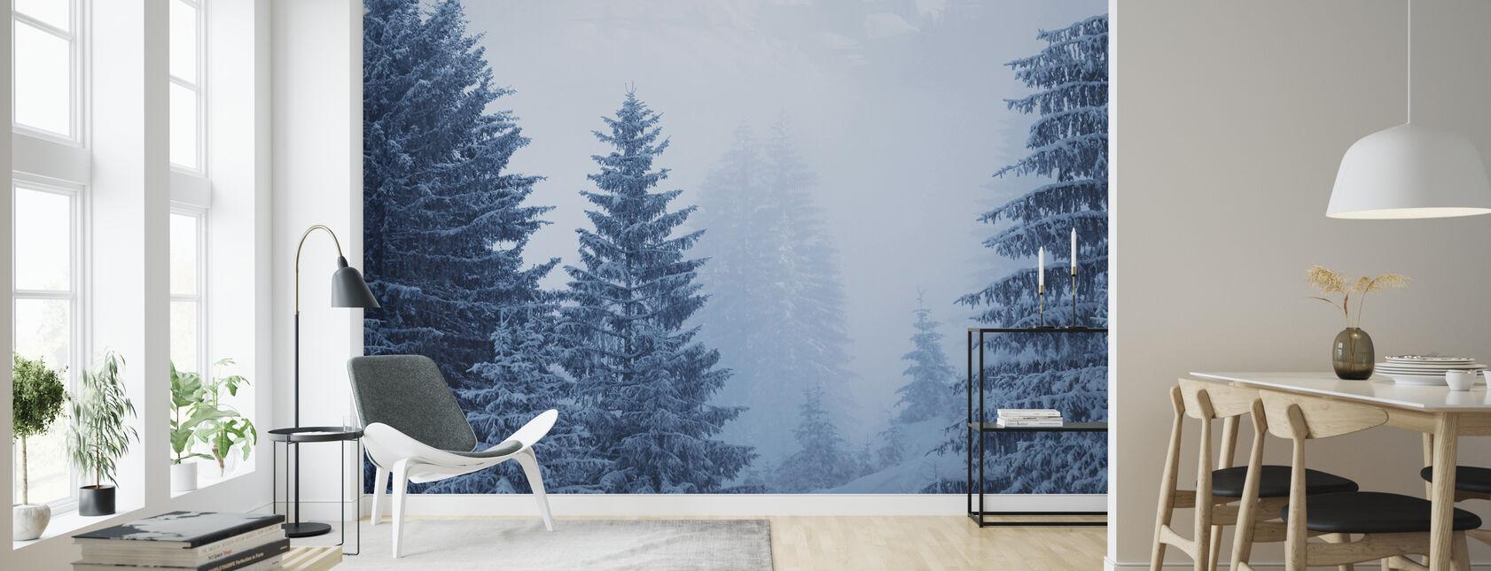Nåleskov i Østrig, Europa - Tapet - Stue