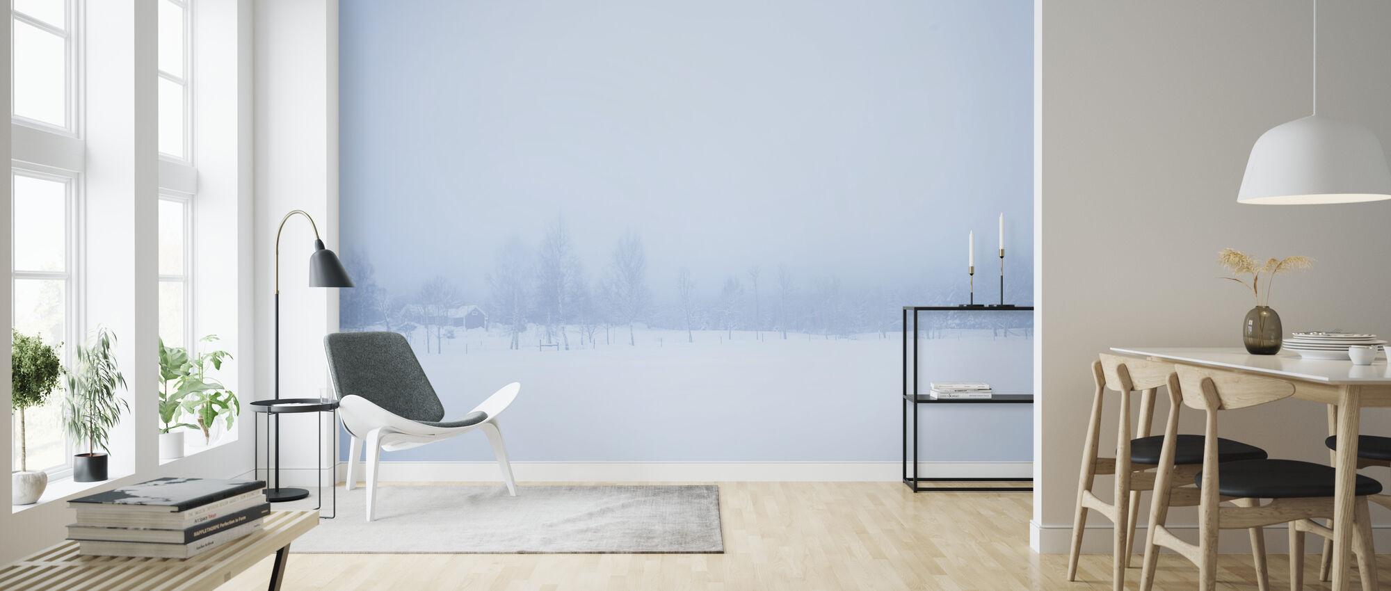 Filipshyttan covered in Fog, Sweden, Europe - Wallpaper - Living Room