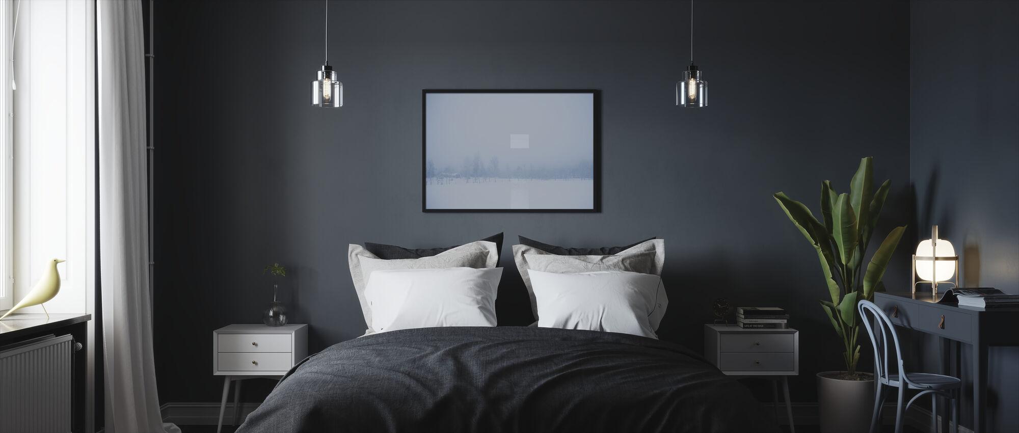 Filipshyttan covered in Fog, Sweden, Europe - Framed print - Bedroom