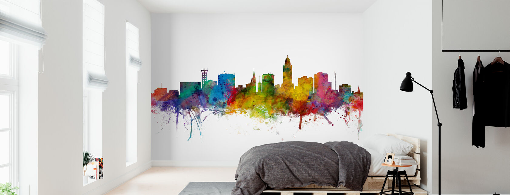 Lincoln Nebraska Skyline - Wallpaper - Bedroom