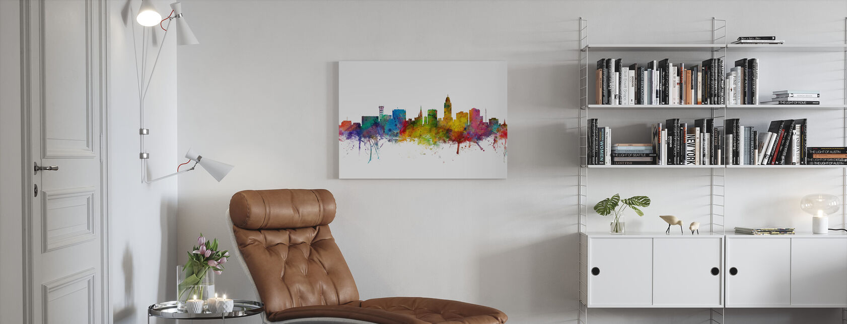 Lincoln Nebraska Skyline - Canvas print - Woonkamer