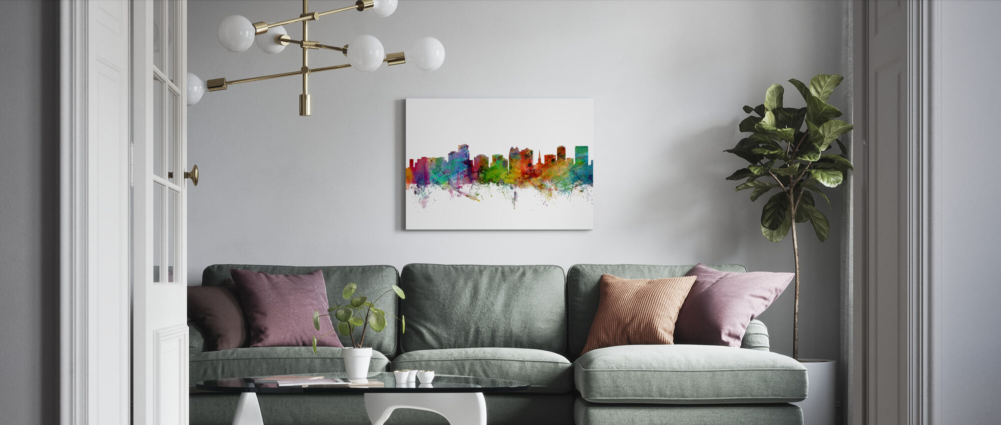 Orlando Florida Skyline - Canvas print - Living Room