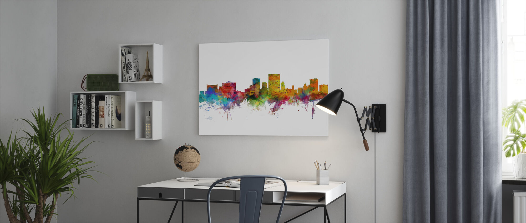 El Paso Texas Skyline - Canvas print - Office