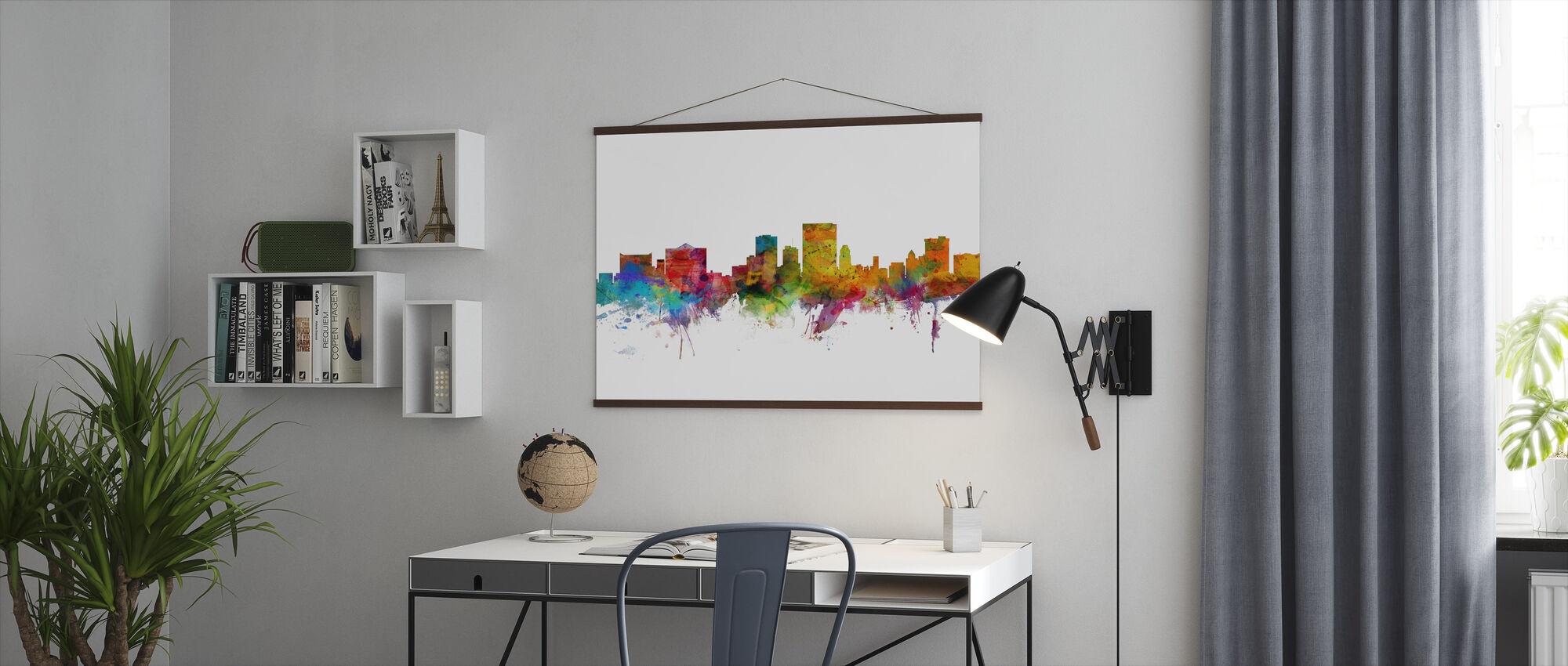 El Paso Texas Skyline - Poster - Office