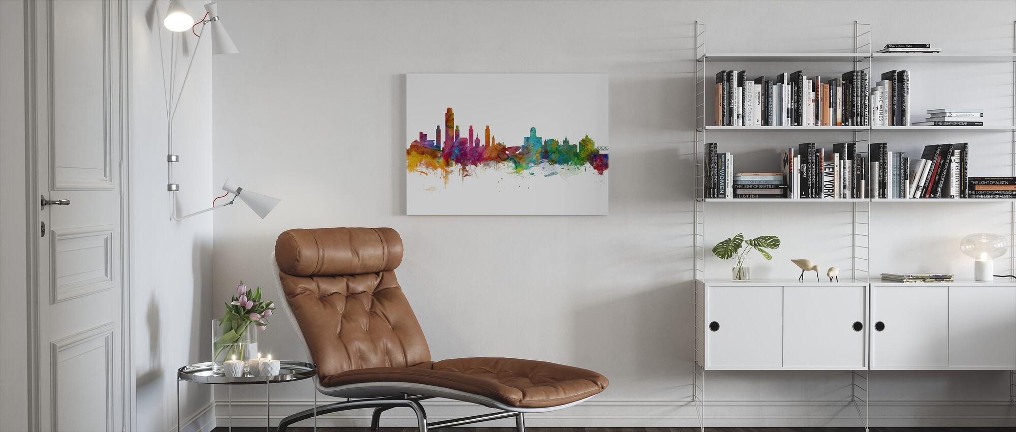 Albany New York Skyline - Canvas print - Living Room