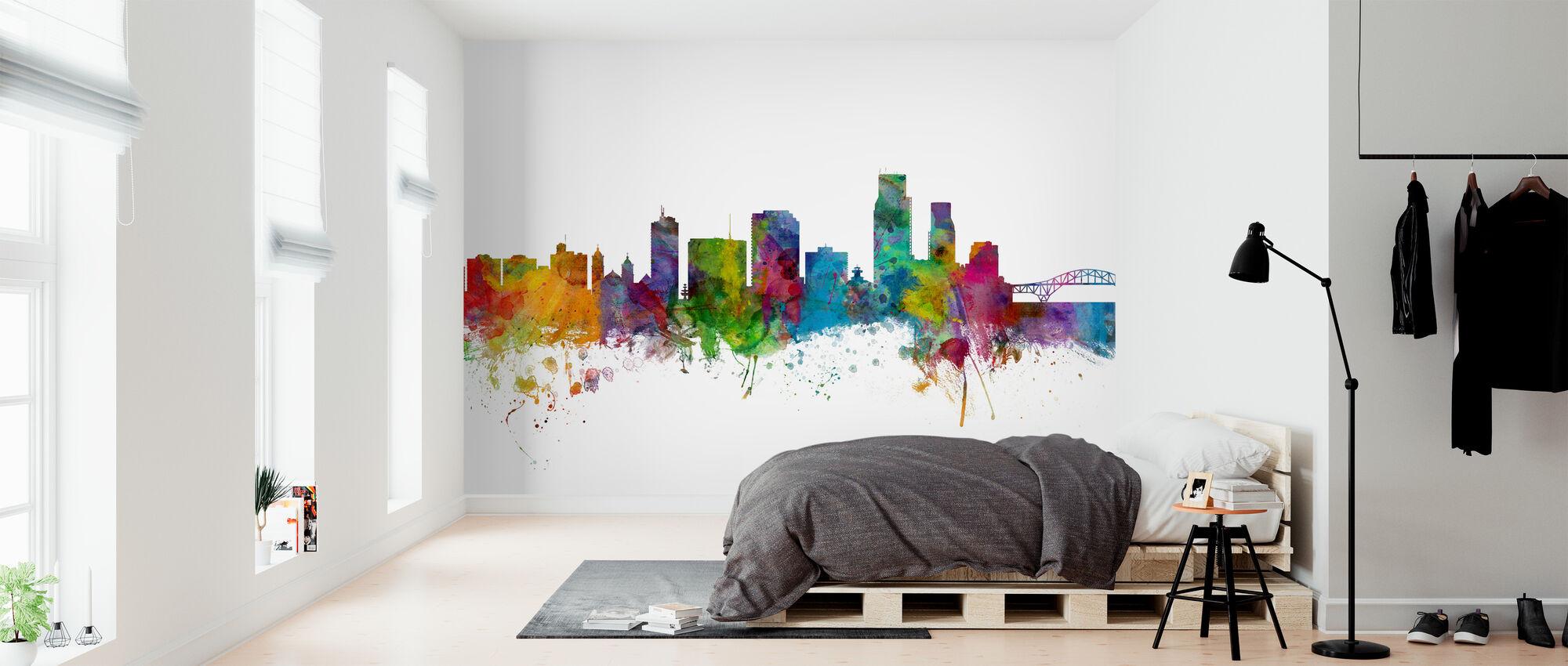 Corpus Christie Texas Skyline - Wallpaper - Bedroom