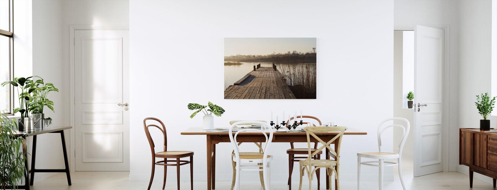 Aamukohtaus Vidingessä, Ruotsissa, Euroopassa - Canvastaulu - Keittiö