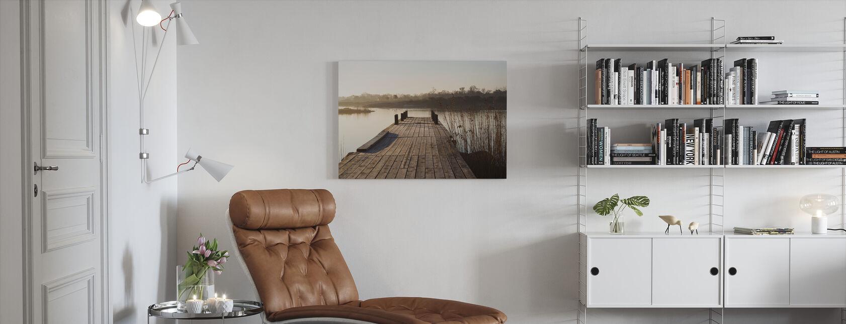 Aamukohtaus Vidingessä, Ruotsissa, Euroopassa - Canvastaulu - Olohuone