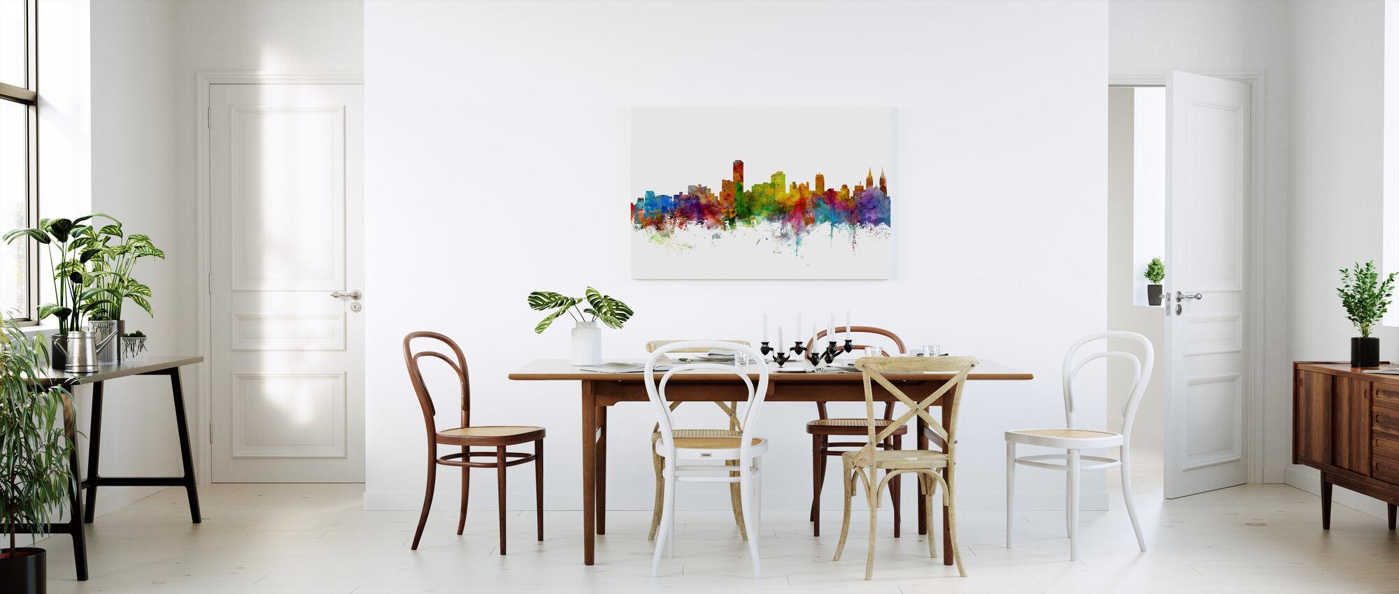 Skyline van Adelaide Australië - Canvas print - Keuken