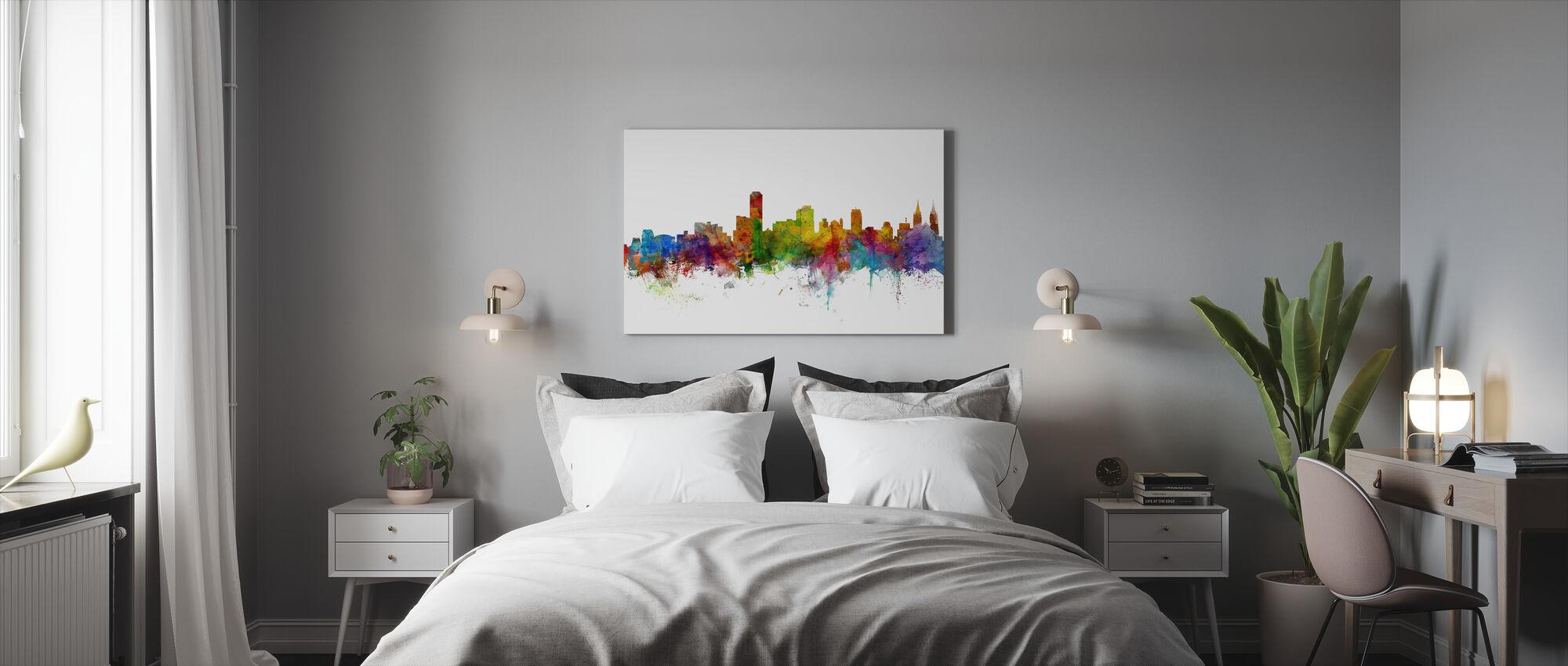 Adelaide Australia Skyline - Canvas print - Bedroom