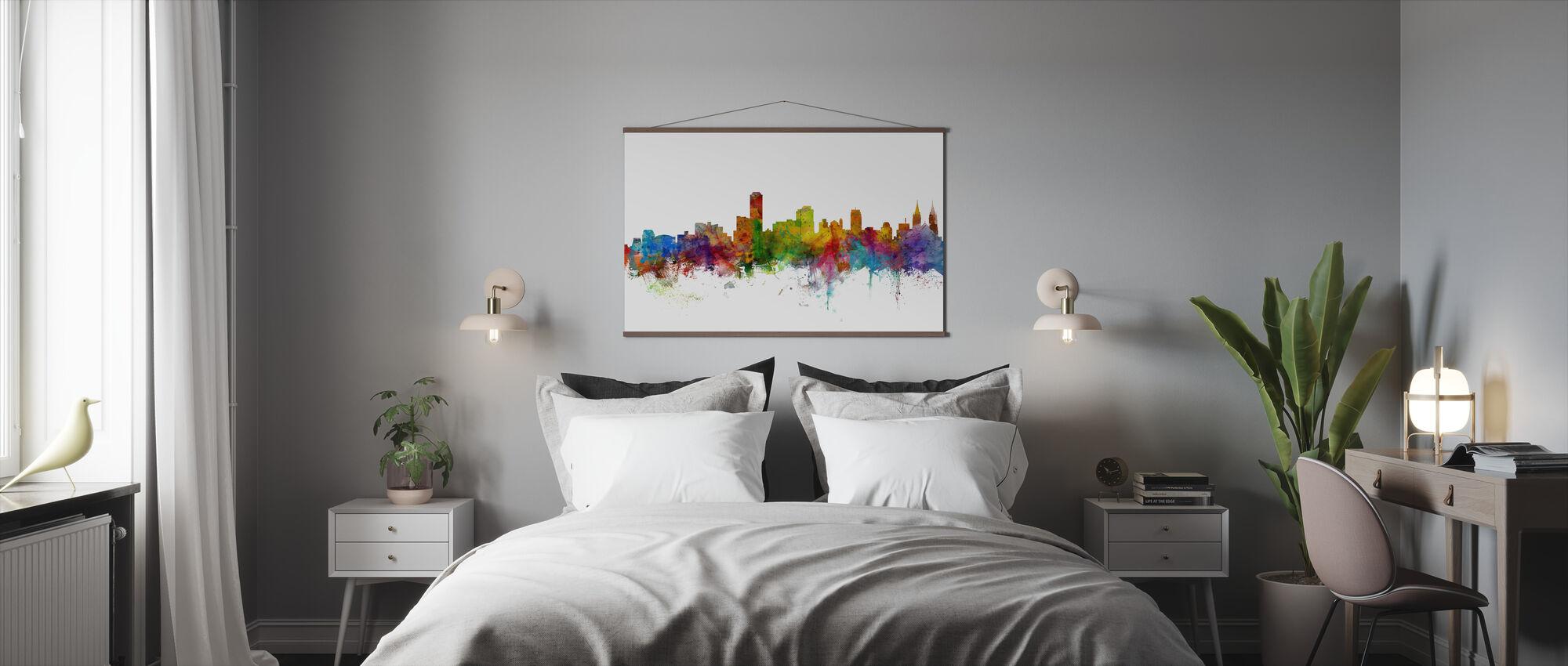 Adelaide Australia Skyline - Poster - Bedroom