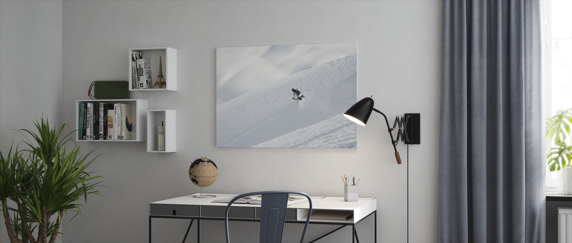 Off Piste Skiing in Chamonix, France, Europe - Canvas print - Office