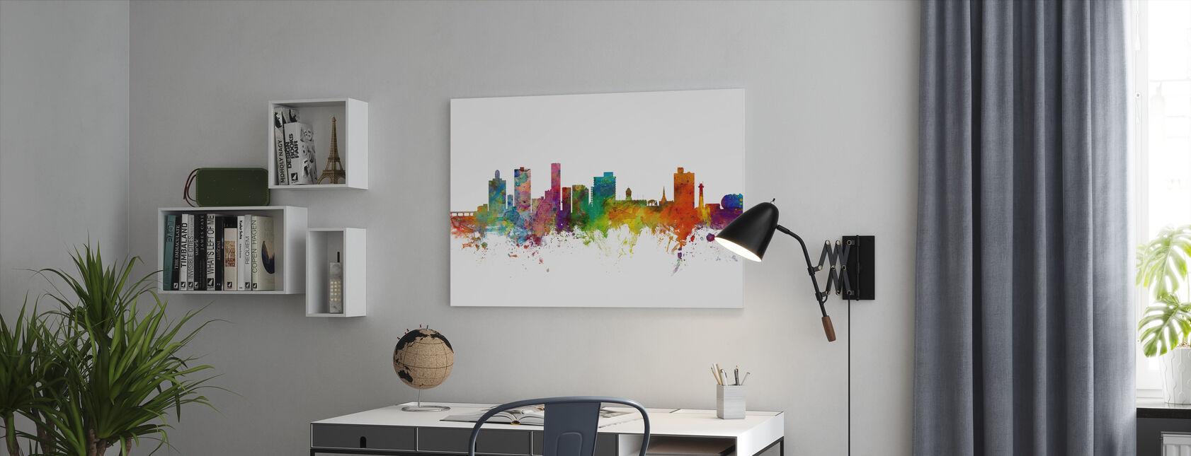 Port Elizabeth Afryka Południowa Skyline - Obraz na płótnie - Biuro