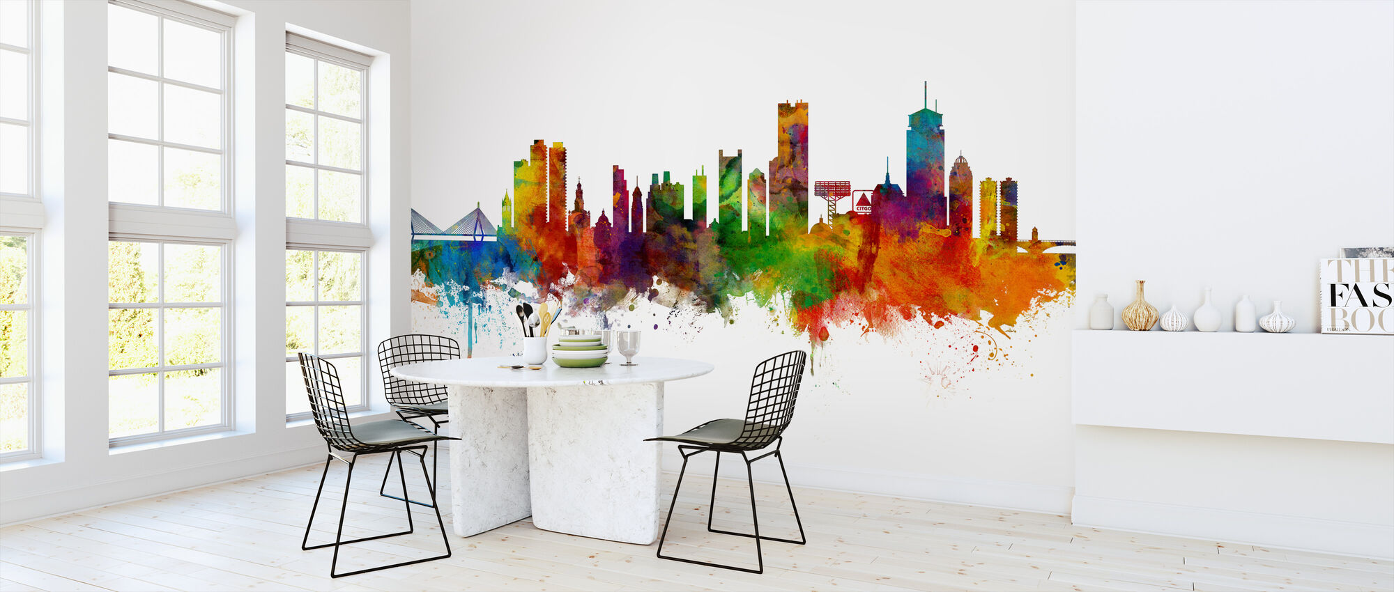 Boston Massachusetts Skyline - Wallpaper - Kitchen