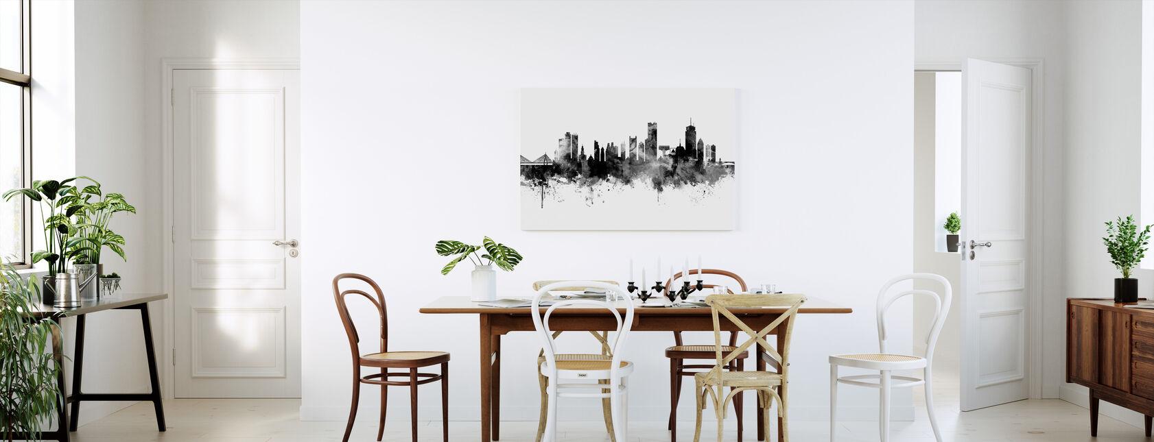Boston Massachusetts Skyline, black and white - Canvas print - Kitchen