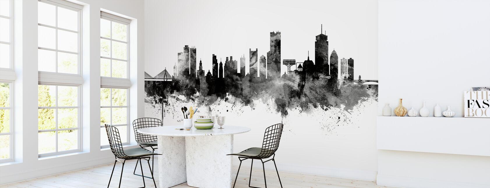 Boston Massachusetts Skyline, black and white - Wallpaper - Kitchen
