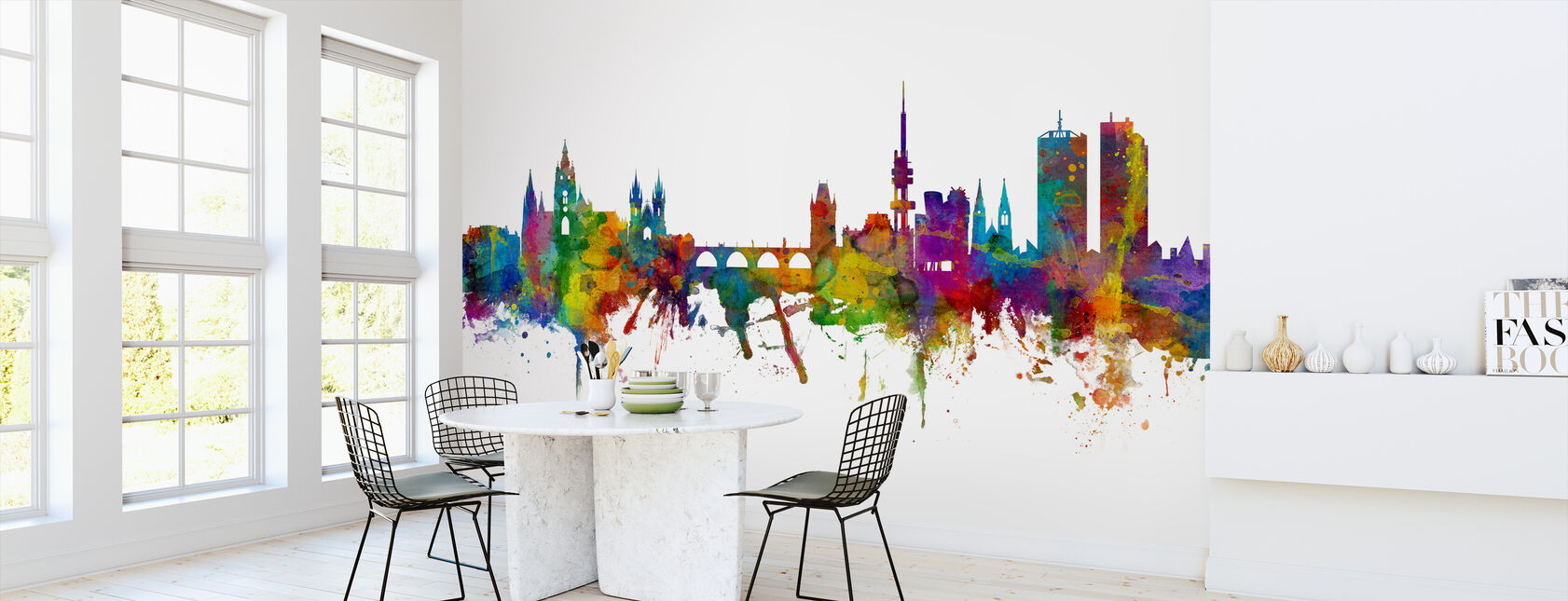 Prague Skyline - Wallpaper - Kitchen