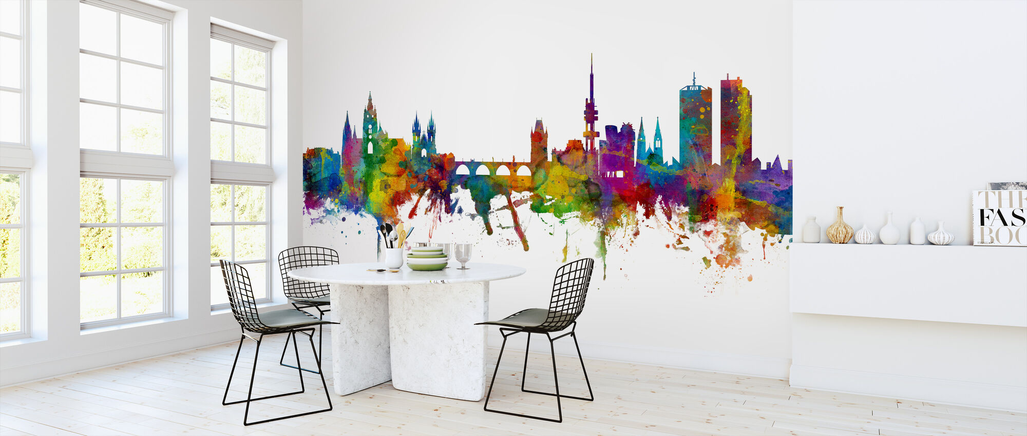 Prague Skyline - Wallpaper - Kitchen