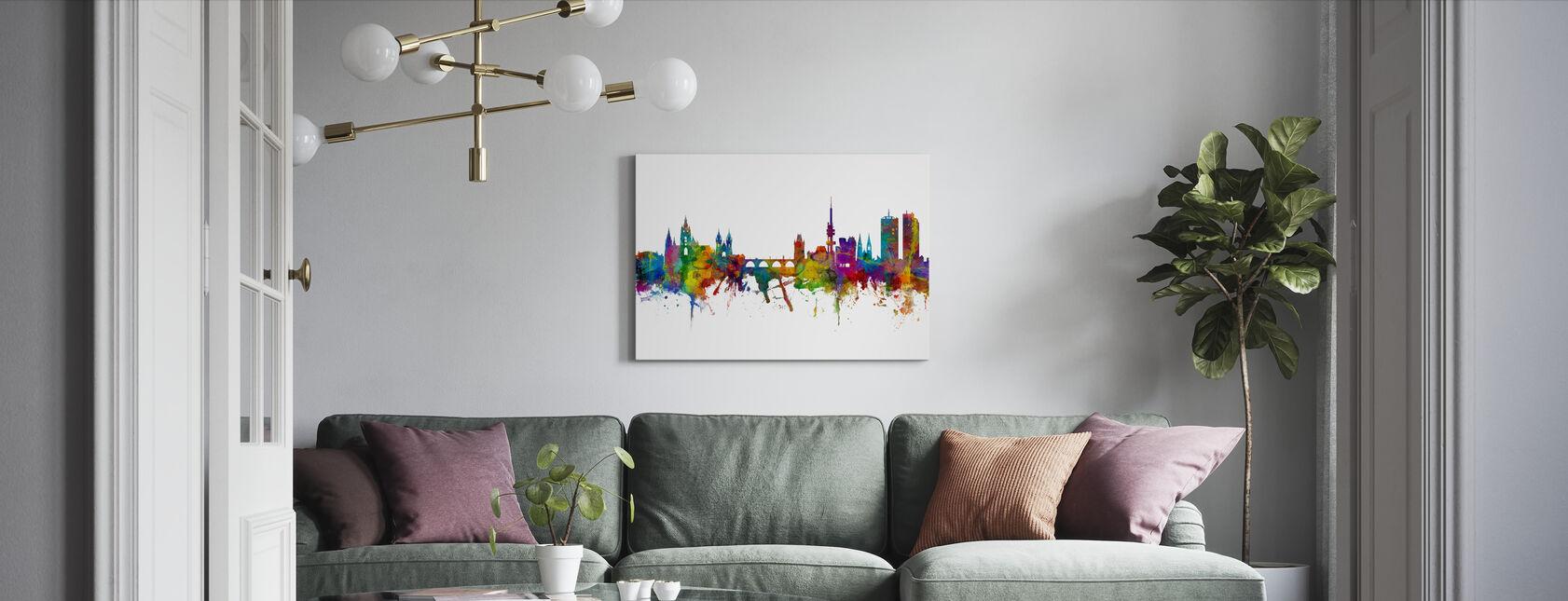 Prague Skyline - Canvas print - Living Room