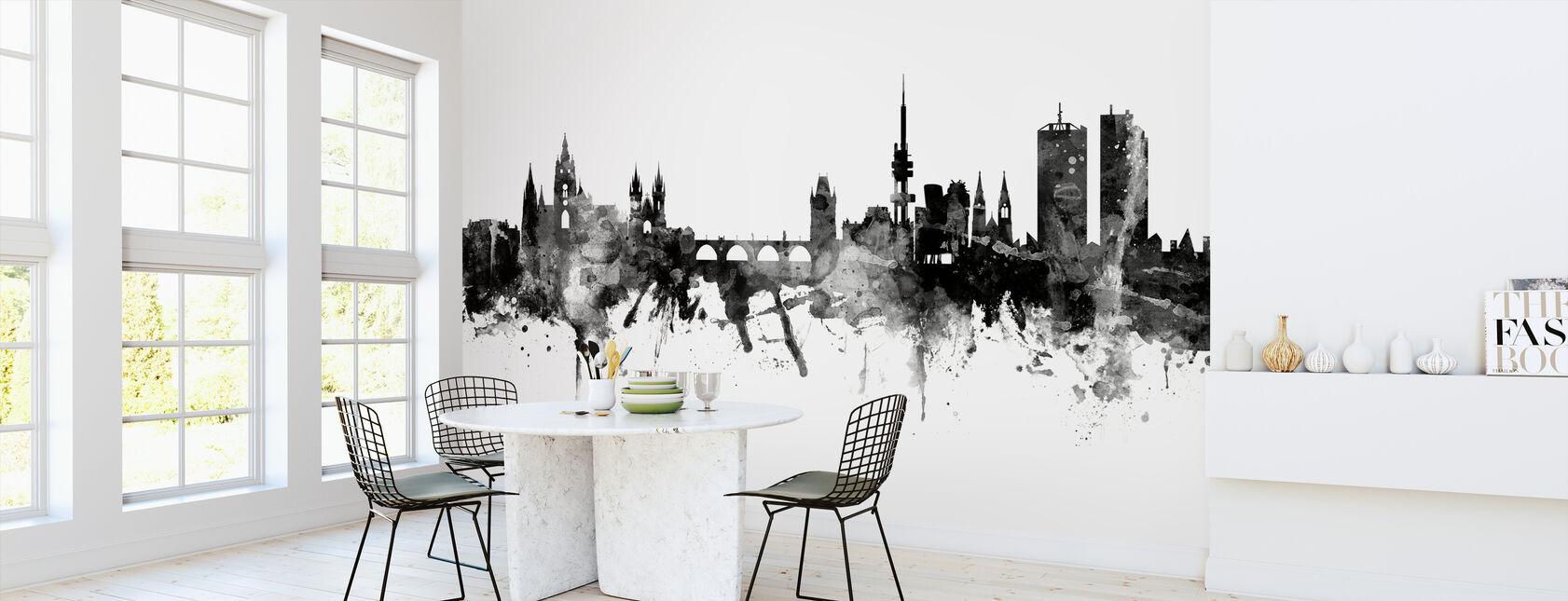 Prague Skyline, black and white - Wallpaper - Kitchen