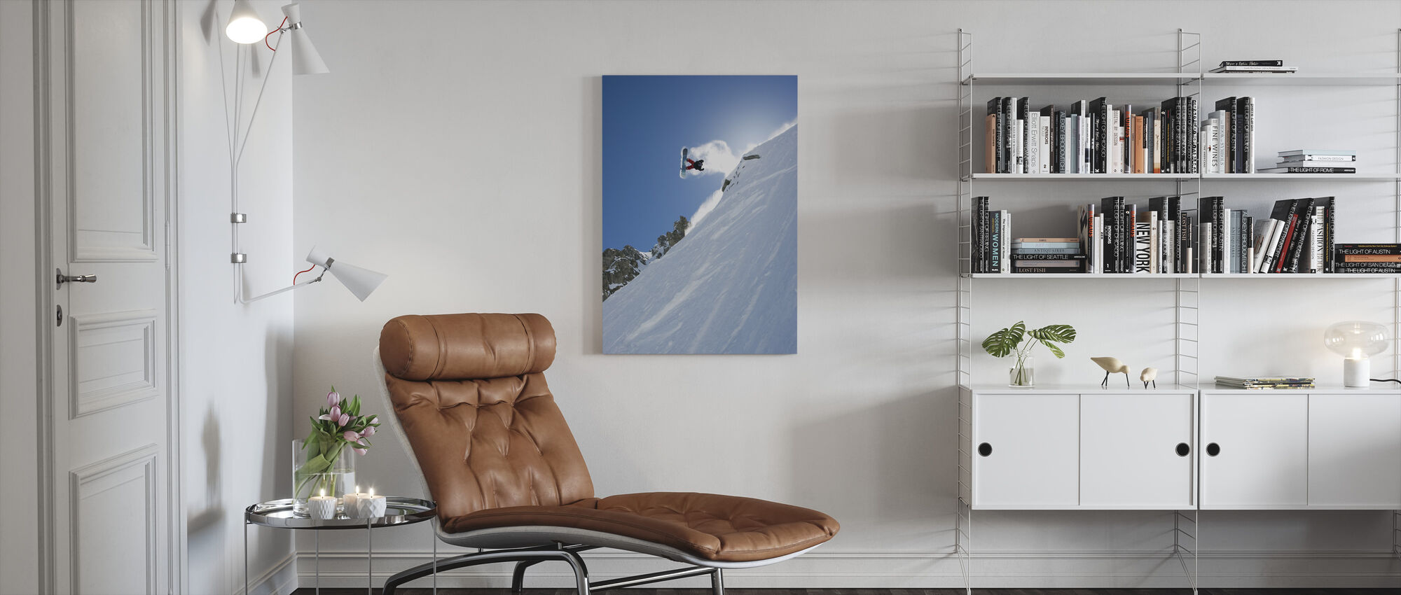 Off Piste, Chamonix, France, Europe - Canvas print - Living Room
