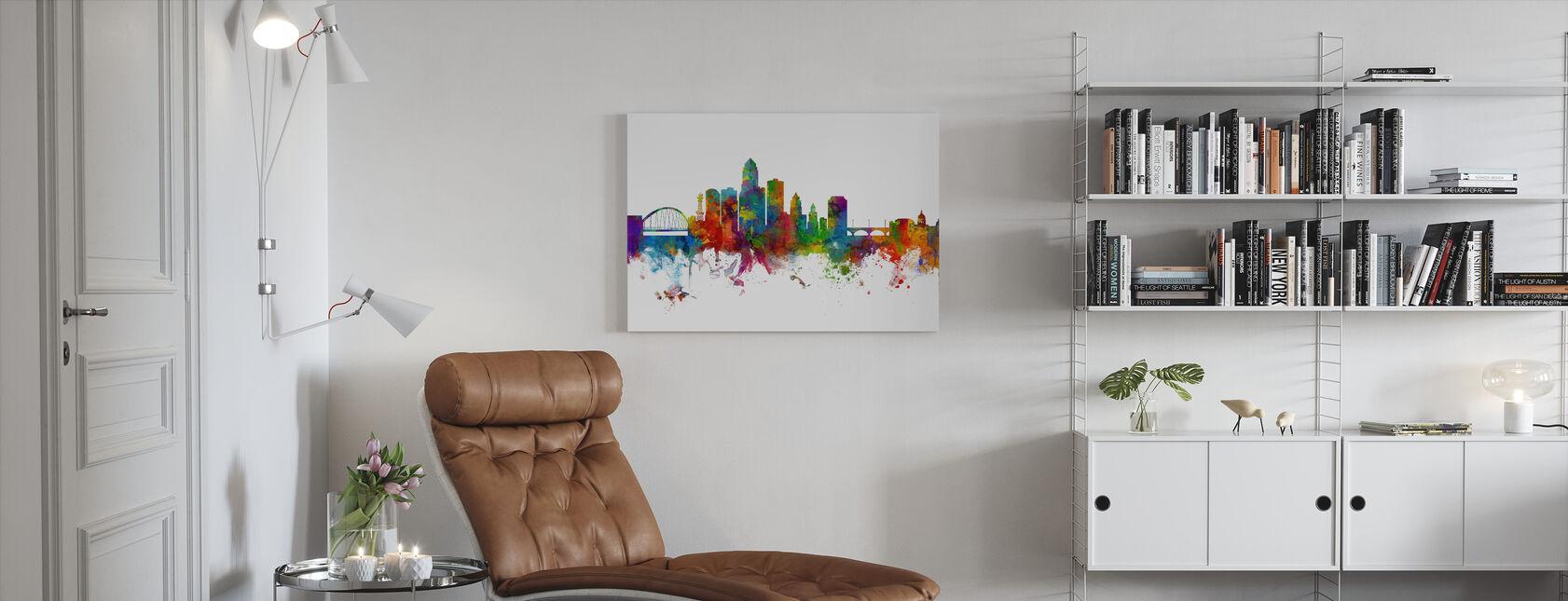 Des Moines Iowa Skyline - Canvas print - Living Room