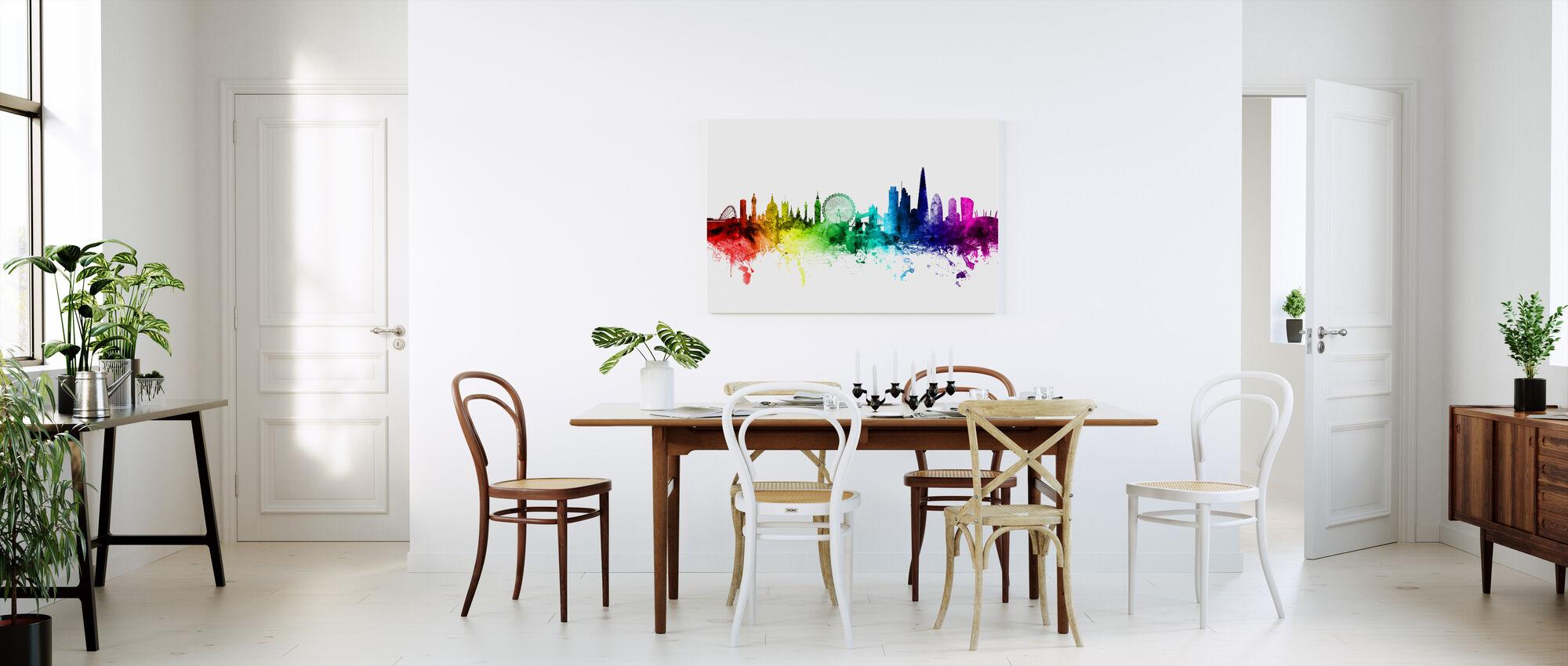 London Skyline Rainbow - Canvastavla - Kök