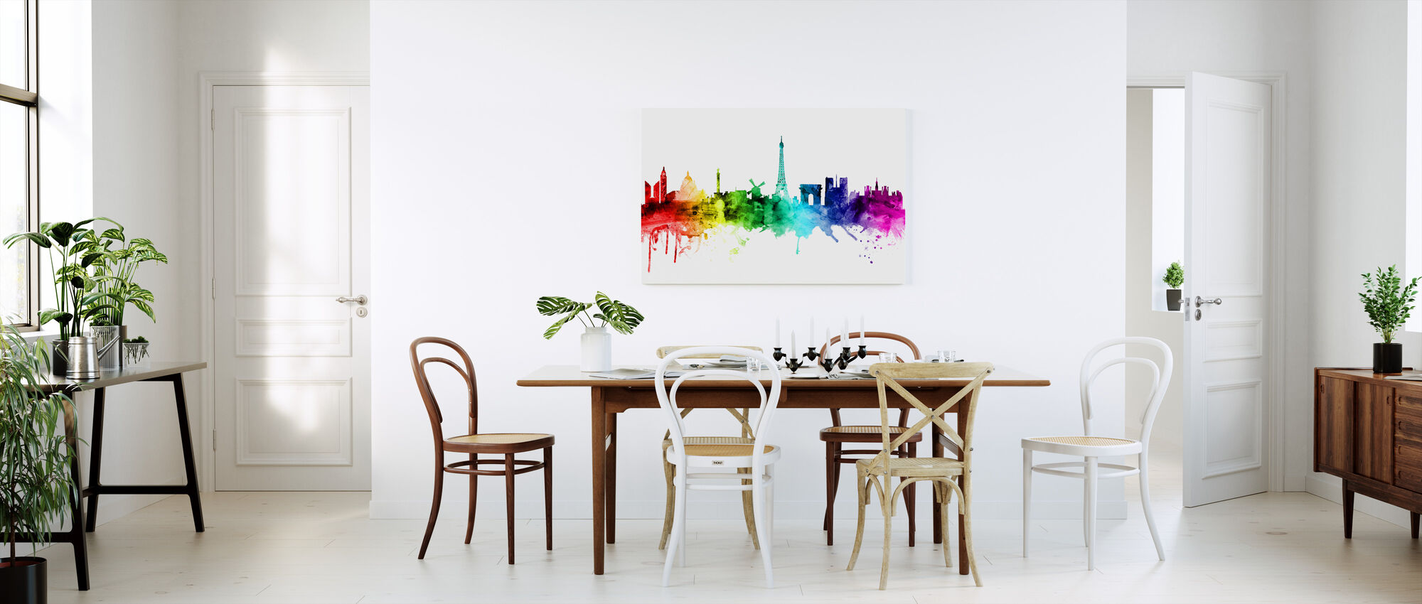 Paris Skyline Rainbow - Canvas print - Kitchen