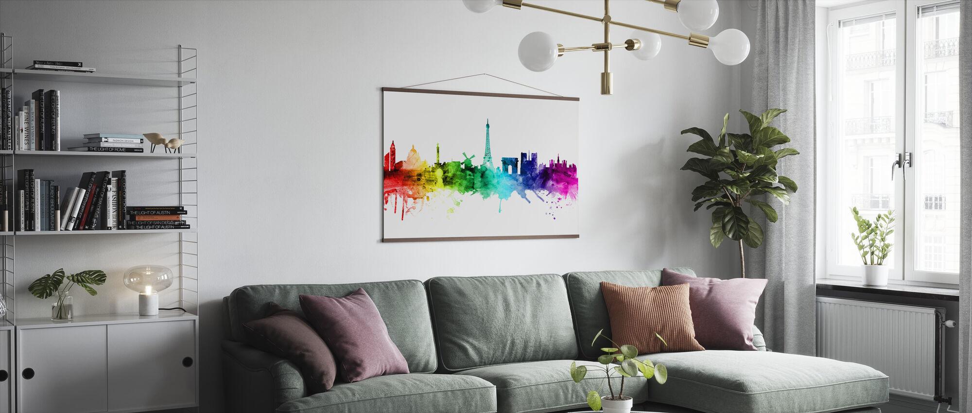Paris Skyline regnbue - Plakat - Stue
