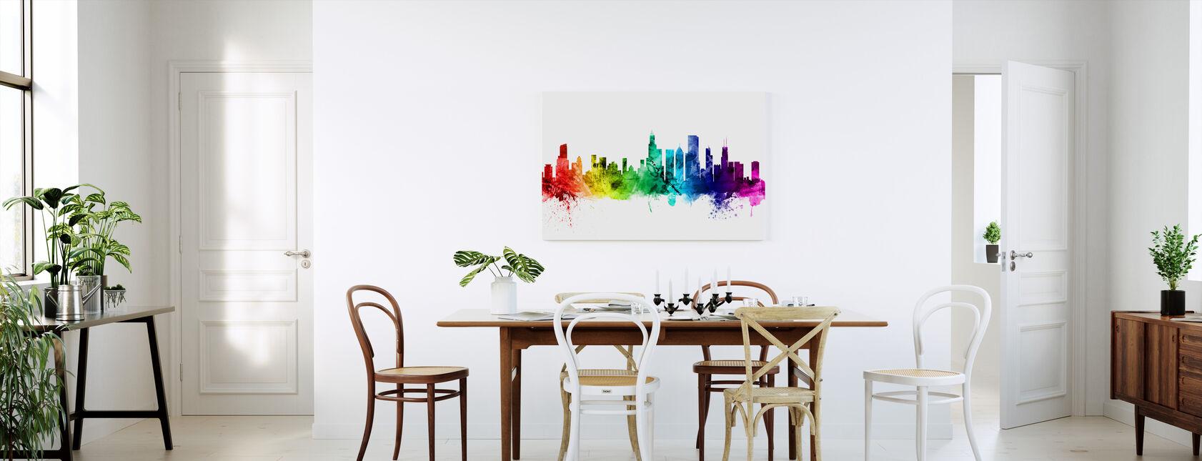 Chicago Illinois Skyline - Billede på lærred - Køkken