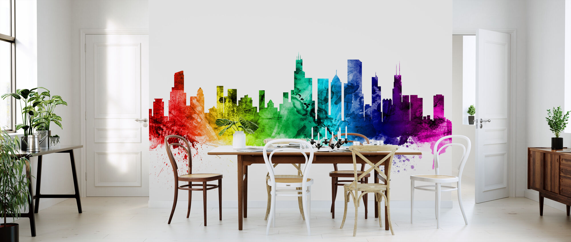 Chicago Illinois Skyline - Wallpaper - Kitchen