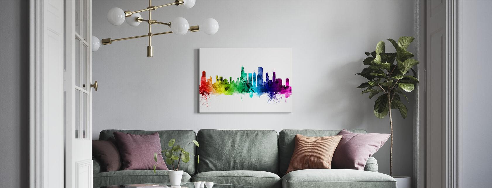 Chicago Illinois Skyline - Billede på lærred - Stue