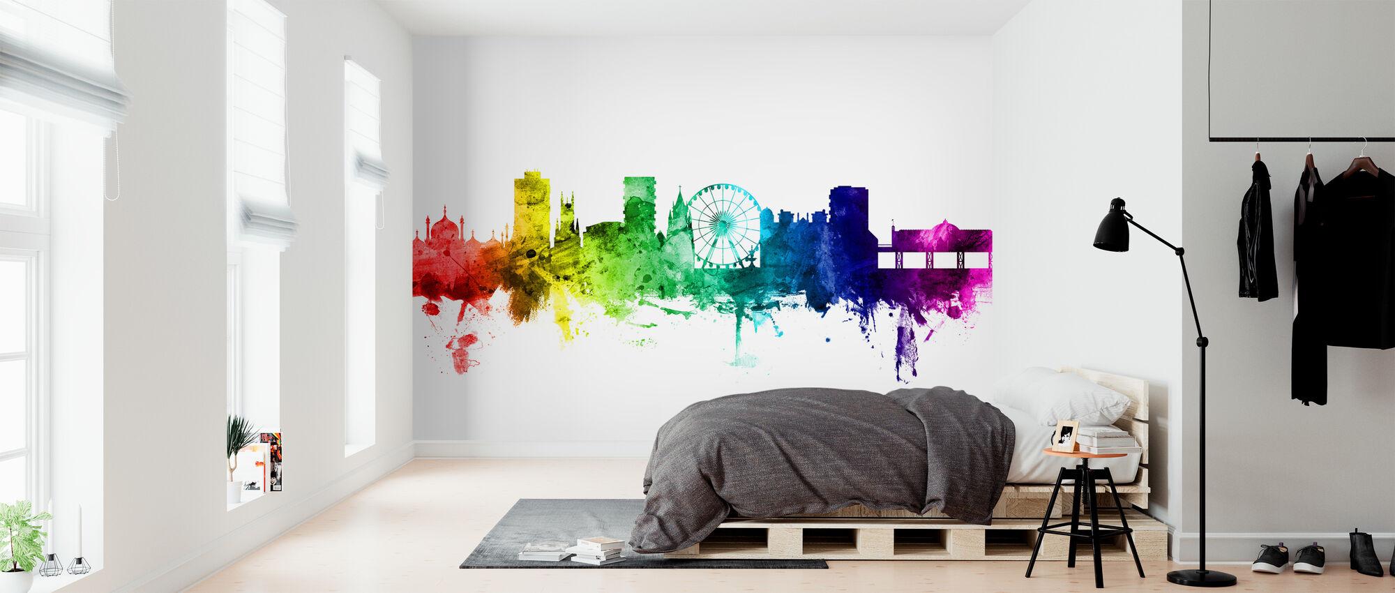 Brighton Skyline Rainbow - Wallpaper - Bedroom