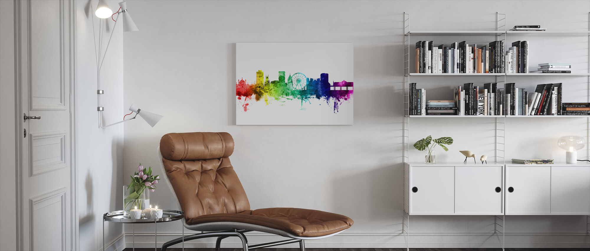 Brighton Skyline Rainbow - Canvas print - Living Room