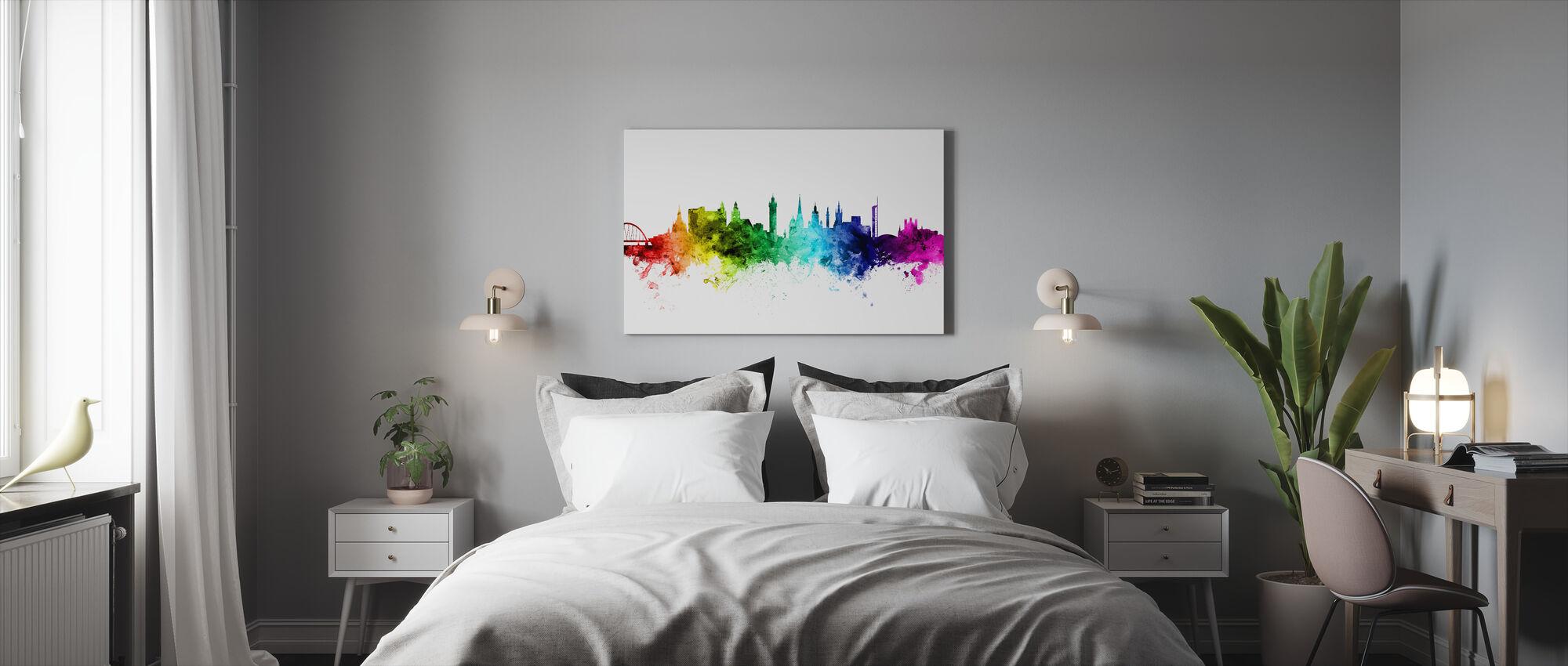 Glasgow Skyline Rainbow - Canvas print - Bedroom
