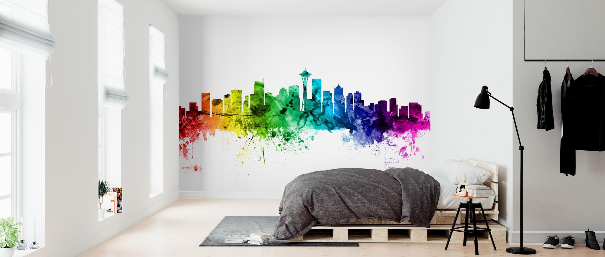 Washington Skyline Rainbow - Tapet - Soveværelse