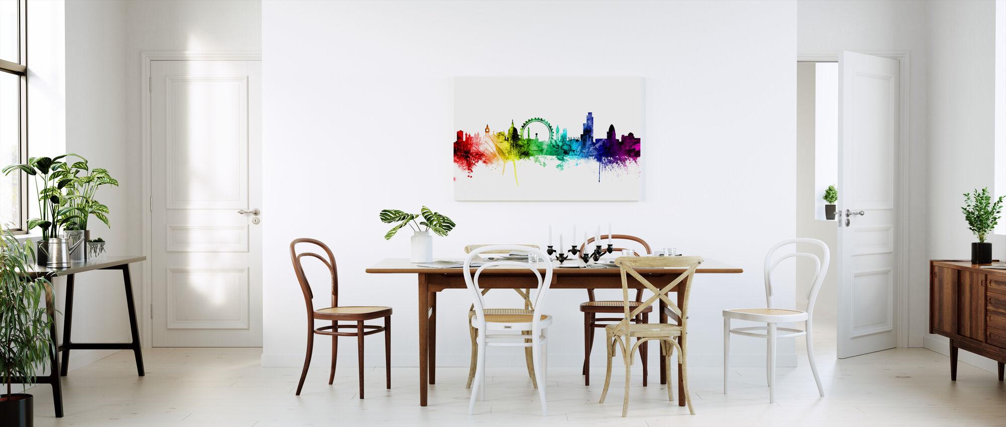 London Skyline Rainbow 2 - Canvas print - Kitchen